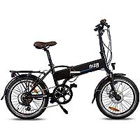 URBANBIKER Vélo électrique Pliant Mod. Niza, Batterie Lithium ION 9Ah, 7 Vitesses, 20 Pouces, Noir.