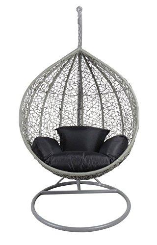Sale Pro Toolstm Couleur Gris en rotin Chaise hamac Jardin terrasse à suspendre en osier Tissage meubles
