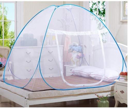 Moustiquaire en forme de dôme à installation facile, pliable, protège des insectes - Tente pop up pour lits et chambre à coucher - Rechel, blanc, 150*200*150cm