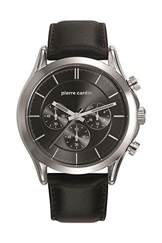 Pierre Cardin Reloj Cronógrafo para Hombre de Cuarzo con Correa en Cuero PC107201F02