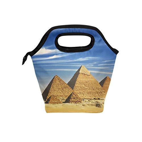 jstel Ägypten Pyramide- und chufu Lunch Bag Handtasche Lunchbox Frischhaltedose Gourmet Bento Coole Tote Cooler Warm Tasche für Reisen Picknick Schule Büro