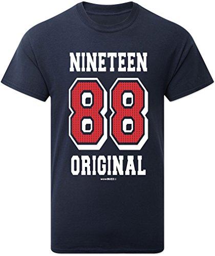 30th Birthday Gifts 30. Geburtstags-Geschenk Original 1988 T-Shirt für Männer in Marine-Blau Navy 1988