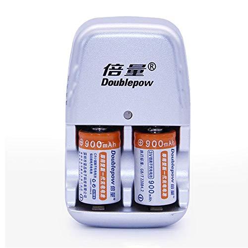 FindeGo 2pcs / Lot 900mAh CR2 Akku-Satz Lithium-Batterie mit Schnell-Ladegerät - Lithium-batterie-ladegerät Cr2