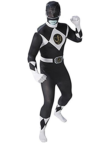 Kostüme Ranger Black Verkleidung Power (Mighty Morphin Power Rangers Black Ranger - Adult 2nd Skin Costume Men :)