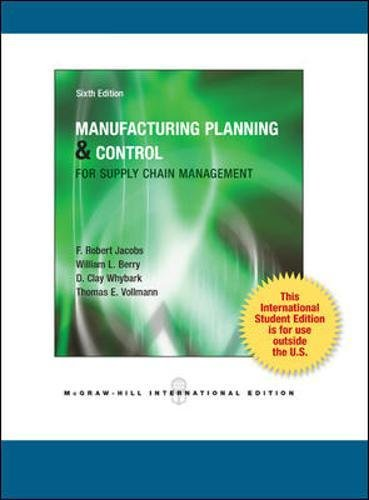 Manufacturing planning and control for supply chain management (Scienze)