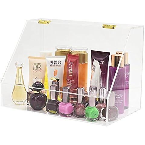 XL® Trucco acrilico organizzatore cosmetici organizzatore gioielli e display cosmetici