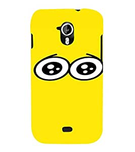 PrintVisa Cartoon Eyes Emotion 3D Hard Polycarbonate Designer Back Case Cover for Micromax Canvas HD A116