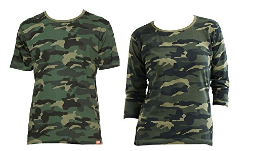 WYO Wear Your Opinion WYO Camouflage Couple for Mens and Womens T-Shirt Top (Style - Half Sleeve,3/4th Sleeve)