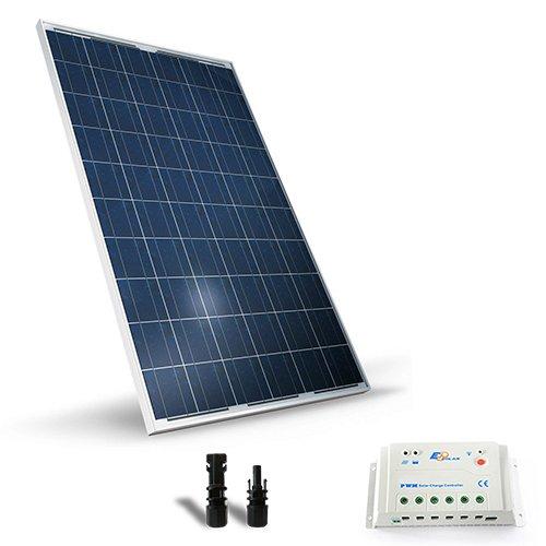Kit Solare Base 200W 12V Pannello Fotovoltaico Regolatore 20A-PWM