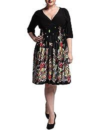 Mujer Vestido Talla Grande 1950S Elegant Coctel Vestido Line Vestido