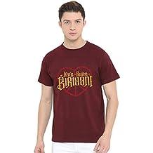Fully Filmy Graphic Printed T-Shirt for Men & Women | Funny Tshirt | Half Sleeve | Round Neck T Shirt| 100% Cotton T-Shirt | Short Sleeve T Shirt - Love Peace Biryani T-Shirt