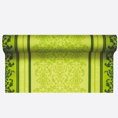 Home fashion 0200-1011Tischläufer TL Barock Lace 490x 40cm, grün