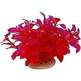 Sourcingmap Plástico Acuario Plantas/Agua de hierba, rojo/púrpura