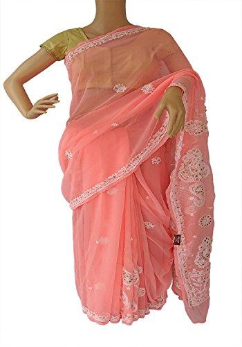 Fashion Fabric Chiffon Gottapatti Chikankari saree