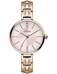 s.Oliver Damen-Armbanduhr Analog Quarz Edelstahl SO-3090-MQ