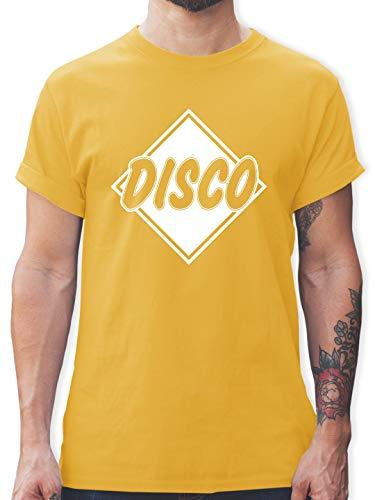 Festival - Disco - XL - Gelb - L190 - Herren T-Shirt und Männer Tshirt