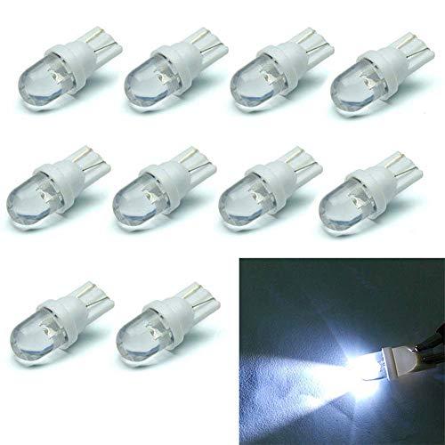 Xeples Luci LED per Auto ad Alta Potenza Bianche, lampadine a diodi Accessori 12V 3W T10 (10 Pezzi/Set)