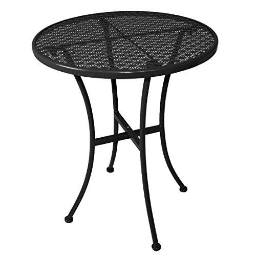 Table de bistrot Bolero GG705, Acier, ronde, noire