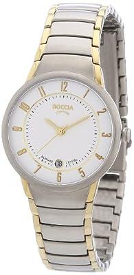 Boccia B3158-02 - Reloj de mujer de cuarzo, correa de titanio color plata de Boccia