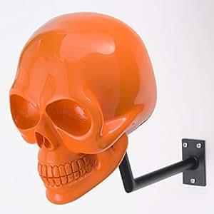 H-skull, supporto per casco, a forma di teschio.