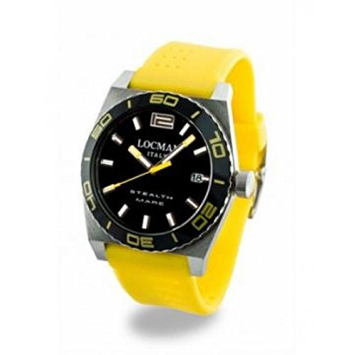 Watch Locman Stealth Sea 021100 ky-bkasiy Quartz (Rechargeable) quandrante Steel Black Silicone Strap