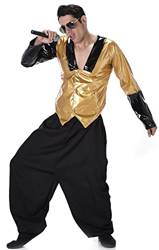 Low cost alternative MC Hammer 1990 rap costume. In three sizes up to 48