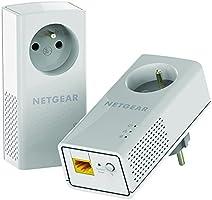 Netgear PLP1200-100FRS Pack de 2 Adaptateurs CPL 1200 Mbps Blanc