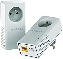 NETGEAR PLP1200-100FRS Pack de 2 CPL 1200 Mbps avec prise filtrée.