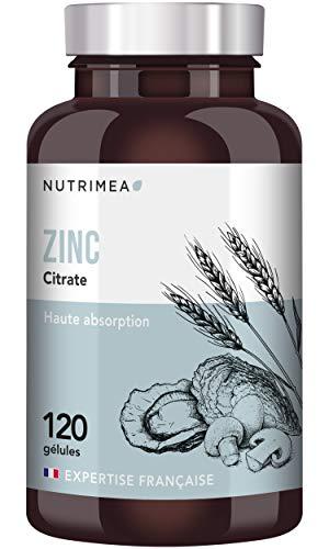 ZINC Citrate 40 mg  Biodisponibilité maximale  Fabrication FRANCAISE Vegan  Cheveux, peau (acné), antioxydant, contre le rhume  120 gélules 4 mois de cure