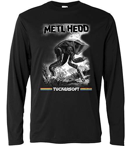 LaMAGLIERIA Camiseta de Manga Larga Hombre Black Mirror Metl Hedd Cod Bm06 - Camiseta 100% algodón TV Series, S, Negro