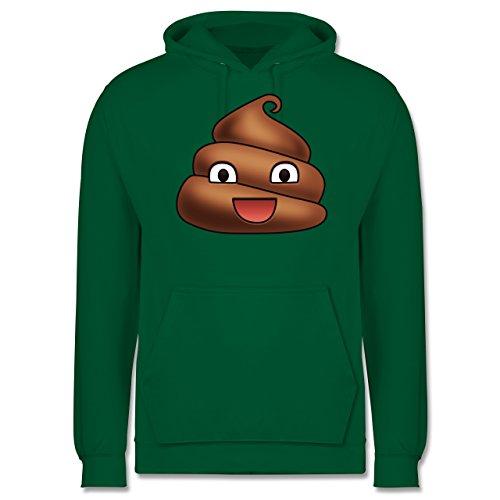Statement Shirts - Kackhäufchen Emoji - Männer Premium Kapuzenpullover / Hoodie Grün