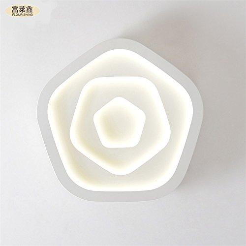 Rose onde camera da letto moderna terrazza ristorante minimalista Ferro acrilico ha condotto l'alimentazione 24-36w soffitto , white , 45cm*24w