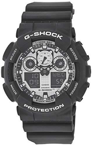 Casio G-SHOCK Homme Analogique-Digital Quartz Montre avec Bracelet en Résine GA-100BW-1AER