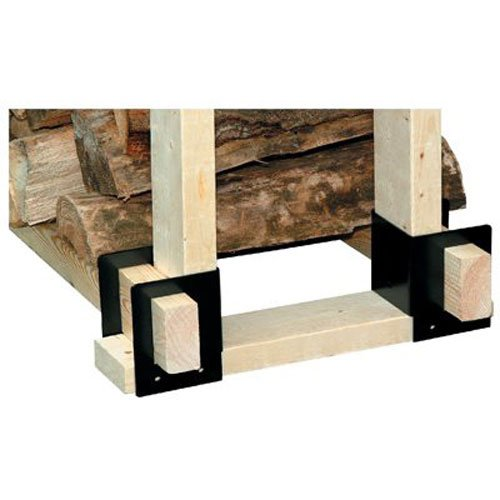 PANACEA PRODUCTS CORP - Log Rack Brackets, Black, 6-1/2 x 9-1/4 x 4-1/4-In., 4-Pc.