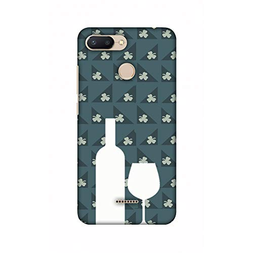 AMZER® Designer Case - Wine and Pattern with shemrock - Teal for Xiaomi Redmi 6