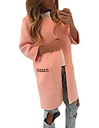 Mujer Cardigan Trench 3/4 Manga Cuello Redondo Con Bolsillos Elegante Vintage Classic Fashion Otoño E Invierno Outdoor Casual Abrigos Parka Cárdigan Capa Outerwear