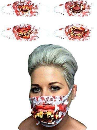 Halloween Zombie Surgeon Medical Mask with Goofy Rotting Teeth