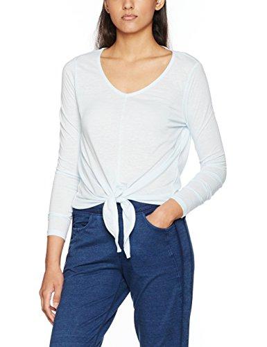 Vero Moda VMLUA LS Knot Top DNM Jrs, T-Shirt Femme Bleu (Plein Air)