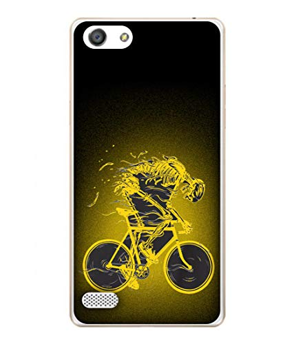 Tivesh Amazing Designer Back Case Cover for Oppo A33 with The Unique Design of Bycycle Fast Running Printed Back coverWith The Beautiful Multicolor Colour