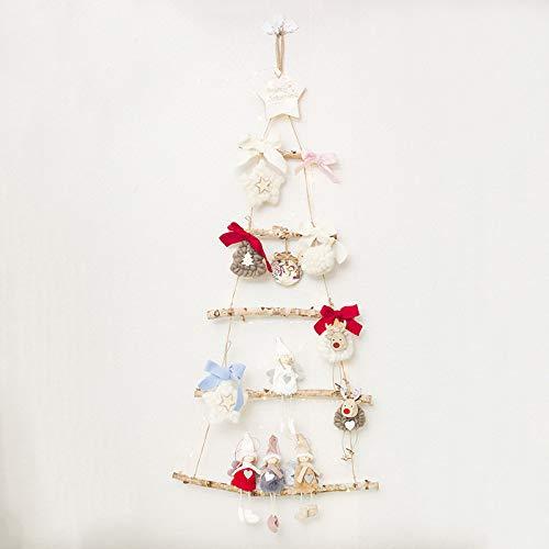 juler 2 stücke Saisonale Dekor Weihnachten Neuheit Dekoration Weihnachten Holz Beleuchtung anhänger Nette Puppe DIY Kits,Pure Farbe,Einheitsgröße