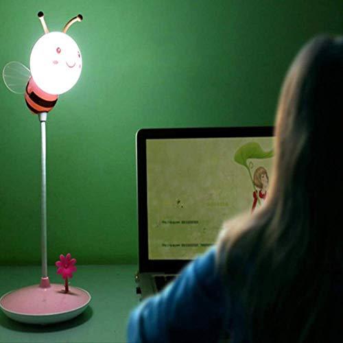 Nachtlicht Txxzn Led Licht Usb Aufladen 5v 0,8 W Moderne Bumble Bee Licht In Gelb/rosa Für Jeden Jungen Oder Mädchen Schlafzimmer rosa
