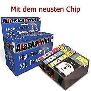 Alaskaprint 4x Cartucce d'inchiostro Sostituire per HP 934XL 935XL Alta Capacità, con nuovi chip Compatibile con HP Officejet 6830 Series Officejet 6820 Officejet 6230 Series Officejet 6812 Officejet 6815 Officejet 6825 Officejet 6835 Series Officejet 6836 Officejet 6830e-Aio Officejet 6230e-Aio Officejet 6835e-Aio Officejet 6800(1 Nero,1 Ciano,1 Magenta , 1 Giallo)
