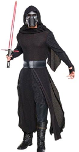 erdbeerloft - Herren Karnevalskomplett Kostüm Star Wars Kylo Ren, XL, Schwarz