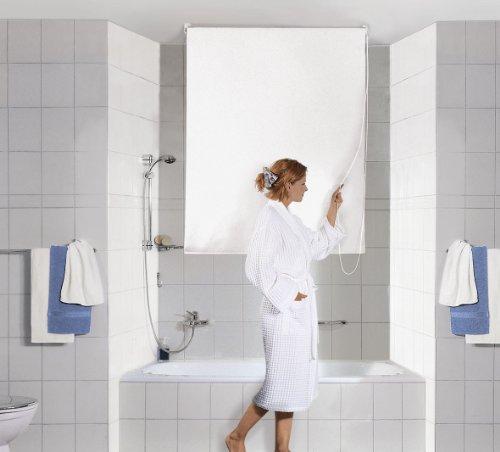 Kleine Wolke 3316100744 - Estor para ducha (140 x 240 cm), color blanco