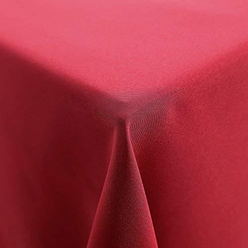 Deconovo tovaglia antimacchia rettangolare in poliestere tovaglia in tessuto per tavolo da cucina 150x200cm rosso