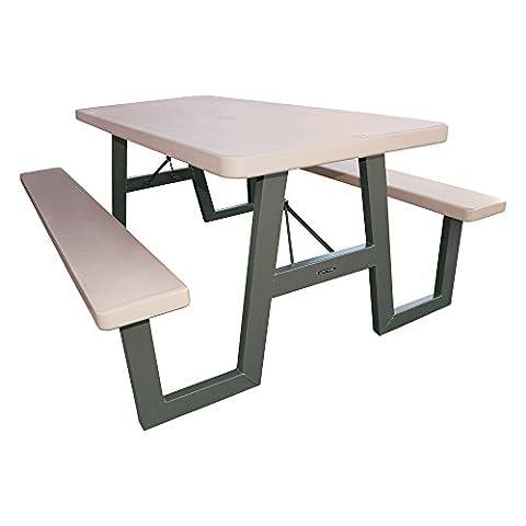Lifetime 60030 6 ft (1.83 m) Frame Picnic Folding Table - Grey