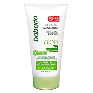 Babaria Aloe Vera – Gel exfoliante facial, 150 ml