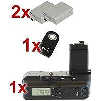 Minadax - Impugnatura portabatteria professionale con timer LCD e comando