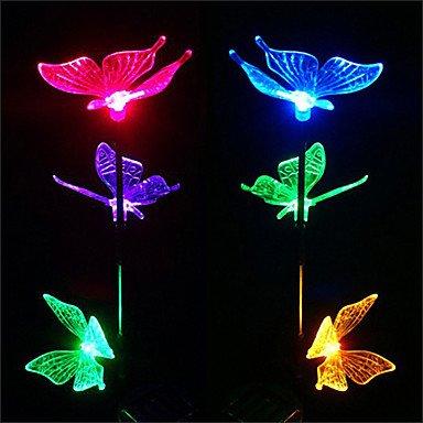 ZLJ Lampe solaire de couleur-changement patio lumi¨¨res papillon