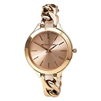 Michael Kors Runway Women's Rose Gold Dial Stainless Steel Band Watch - MK3223